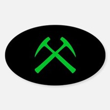 Crossed Rock Hammers Decal