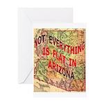 Flat Arizona Greeting Card