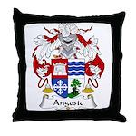 Angosto Family Crest Throw Pillow