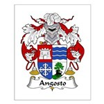 Angosto Family Crest Small Poster