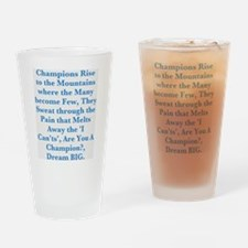 Champions Drinking Glass
