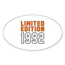 Limited Edition 1992 Decal