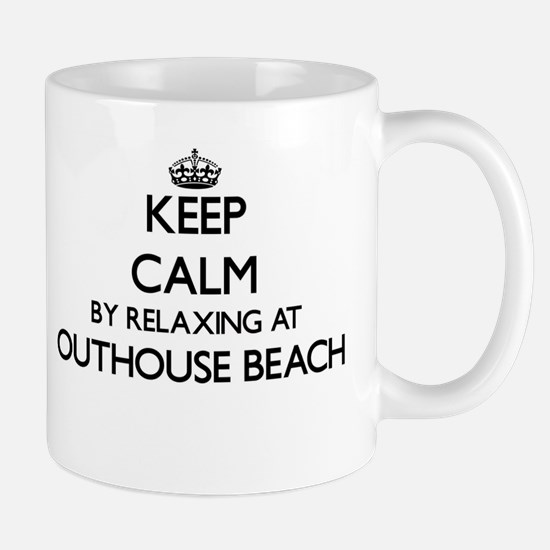 Keep calm by relaxing at Outhouse Beach Guam Mugs