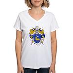 Anglasel Family Crest Women's V-Neck T-Shirt