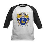Anglasel Family Crest Kids Baseball Jersey