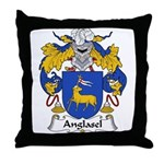 Anglasel Family Crest Throw Pillow