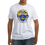 Anglasel Family Crest Fitted T-Shirt