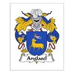 Anglasel Family Crest Small Poster