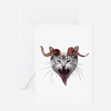 Krampus Cat Greeting Card