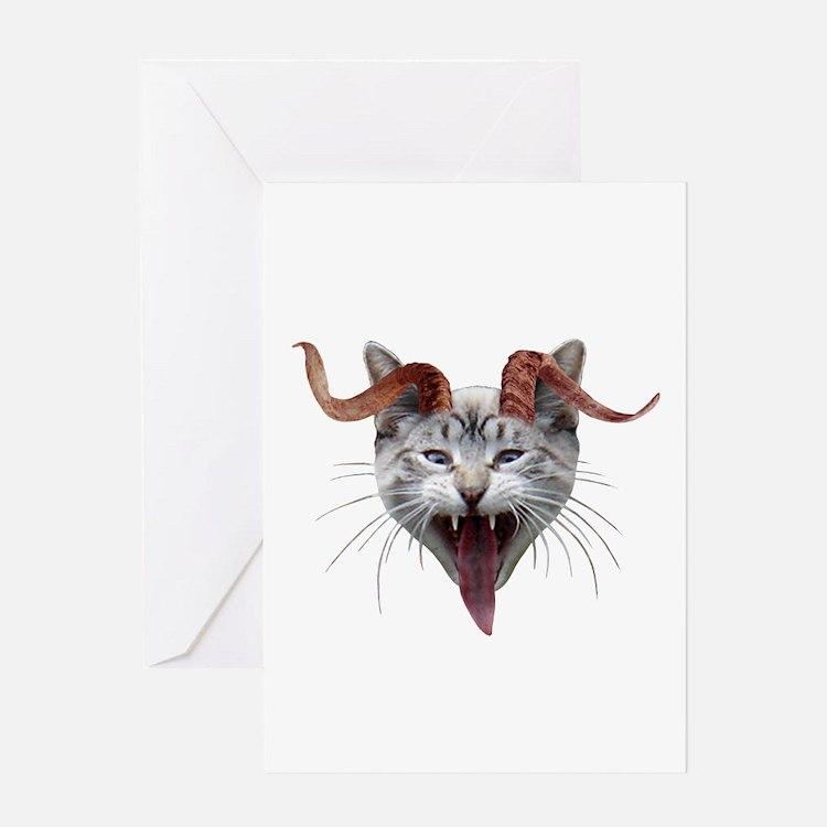 Krampus Cat Greeting Card