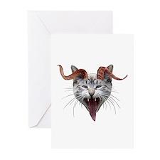 Krampus Cat Greeting Cards (Pk of 10)