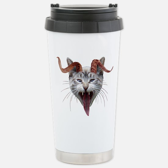 Krampus Cat Stainless Steel Travel Mug