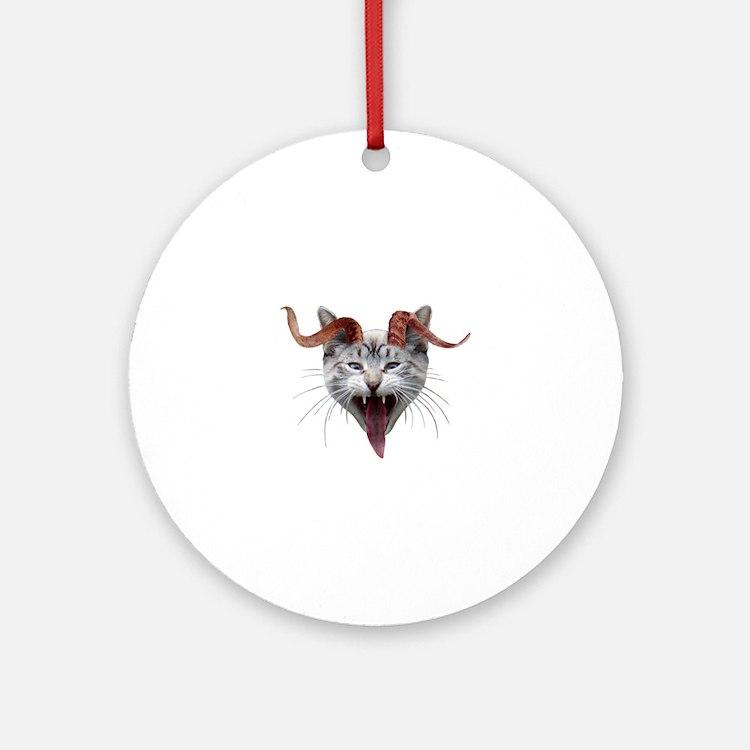Krampus Cat Round Ornament