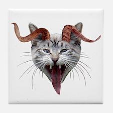Krampus Cat Tile Coaster