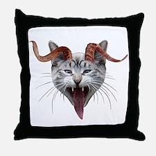Krampus Cat Throw Pillow