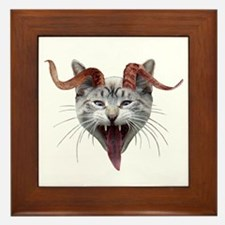 Krampus Cat Framed Tile