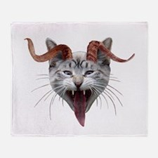 Krampus Cat Throw Blanket