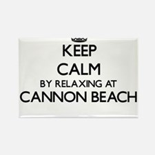 Keep calm by relaxing at Cannon Beach Oreg Magnets