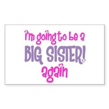 guess what big sister again Rectangle Decal