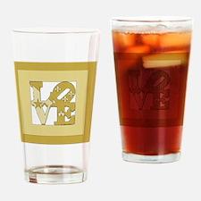 LOVE GOLD FRAMED Drinking Glass
