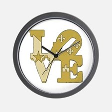 love gold Wall Clock