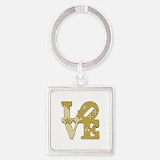 love gold Keychains
