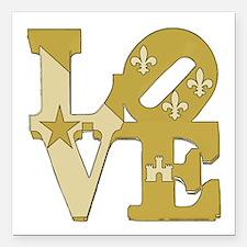 "love gold Square Car Magnet 3"" x 3"""
