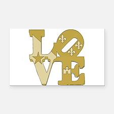 love gold Rectangle Car Magnet