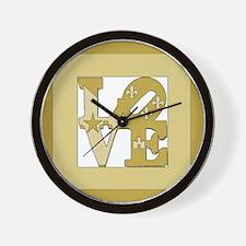 LOVE GOLD FRAMED Wall Clock