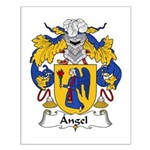 Angel Family Crest Small Poster