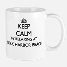 Keep calm by relaxing at York Harbor Beach Ma Mugs