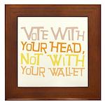Liberal Voter Tile (Framed)