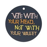 Liberal Voter Keepsake Ornament (Round)