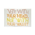 Liberal Voter Rectangle Magnets (100 pk)