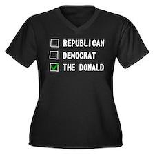 Republican Democrat The Donald Plus Size T-Shirt