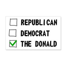 Republican Democrat The Donald Wall Sticker