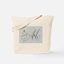 Cute Birds Monogram Tote Bag