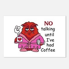 NO TALKING UNTIL COFFEE Postcards (Package of 8)