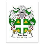Anciso Family Crest Small Poster