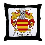 Ampurias Family Crest Throw Pillow