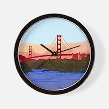 GoldenGateBridge20150821 Wall Clock