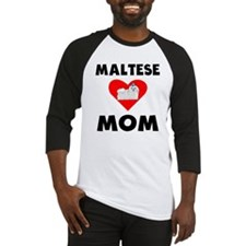 Maltese Mom Baseball Jersey