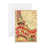 Flat Idaho Greeting Card