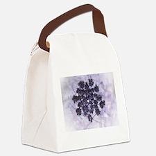 Deep Purple Lilacs Canvas Lunch Bag