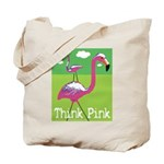 Think Pink Flamingos Tote Bag