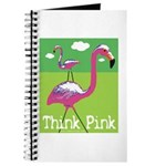 Think Pink Flamingos Journal