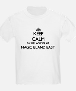Keep calm by relaxing at Magic Island East T-Shirt
