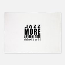 Jazz more awesome designs 5'x7'Area Rug