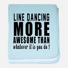 Line dancing more awesome designs baby blanket