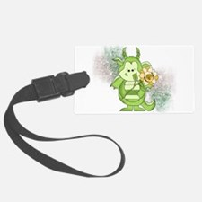 Little Green Dragon and Sunflowe Luggage Tag